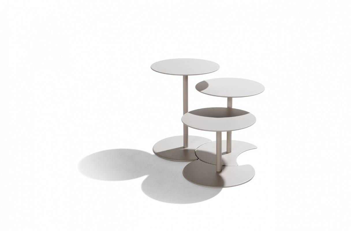 TRIBÙ Drop Tables White Linen Wenge